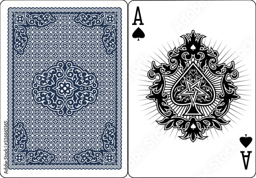 ace of spades with skull Canvas Print