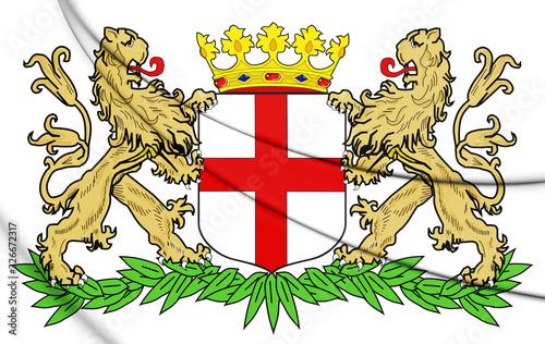 3D Amersfoort Coat of Arms, Netherlands. 3D Illustration. Wallpaper Mural