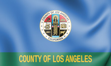 3D Flag Of Los Angeles County ...