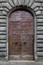 Front View Of Vintage Door Mad...