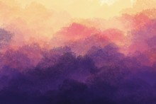Painting Of Abstract Sunset  F...