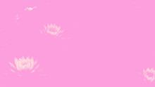 Abstract Pink Background With Lotus Flowers.