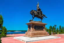 Monument To Prince Grigory Zasekin, The Founder Of Samara. Russia
