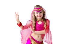 Little Girl In A Suit Of Oriental Beauty