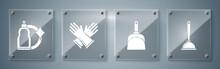 Set Toilet Plunger, Dustpan , ...