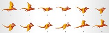 Dragon Run Cycle Animation Frames, Loop Animation Sequence Sprite Sheet