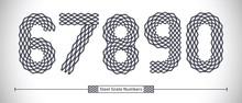 Numbers Steel Grate Style In A...