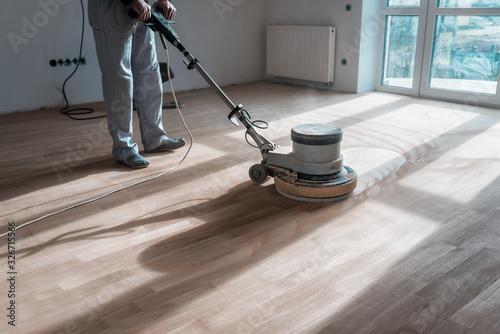 Obraz special polishing machine for parquet - fototapety do salonu