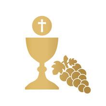 Golden Holy Communion Icon- Ve...