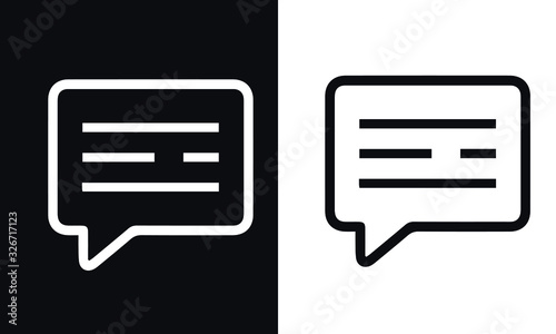 mail line icons set vector design black and white Canvas Print
