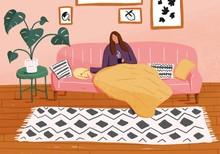 Illustration Of Woman Having C...