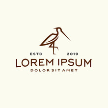 Heron Pelican Stork Vector Log...