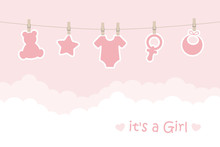 Its A Girl Welcome Greeting Ca...