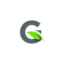Initial Letter G With Leaf Logo Design