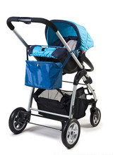 Baby Buggy Isolated On White With Clipping Path