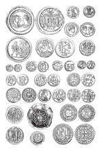 Old Coin Collection - Byzantin...