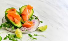 Keto Diet Food : Salmon And Av...