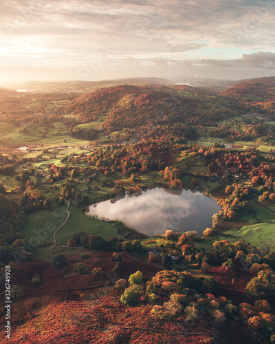 Beautiful sunrise in the Lake District