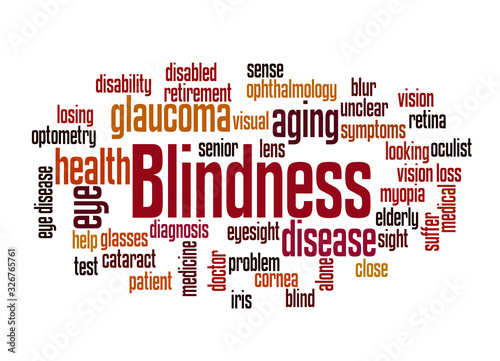 Photo Blindness word cloud concept