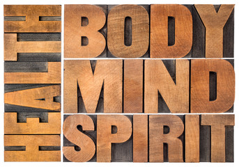 Fototapeta Do Spa health, body, mind and spirit word abstract