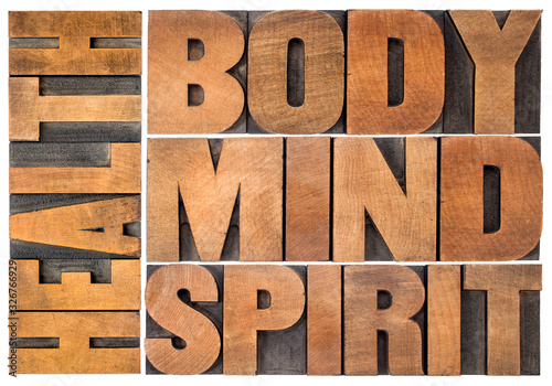 Obraz health, body, mind and spirit word abstract - fototapety do salonu
