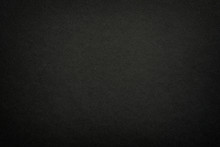 Black Matte Paper Texture Background. Surface Of Abstract Dark Texture. Gray Blank Page Background Flat Close Up View.