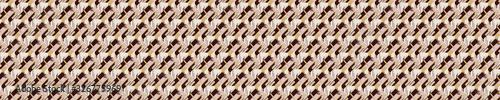 Photo Seamless brown vector geometric polygon border pattern