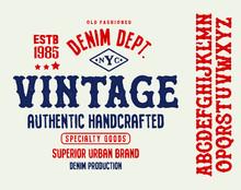 Original Vintage Denim Print F...