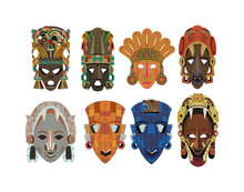 Set Of Eight Ornate Detailed M...