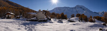 Snowy Village Located In The F...