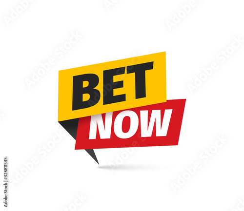 Foto Bet now isolated vector icon