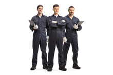 Three Mechanic Workers In Unif...