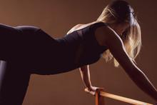Young Girl Doing Yoga Or Pilat...