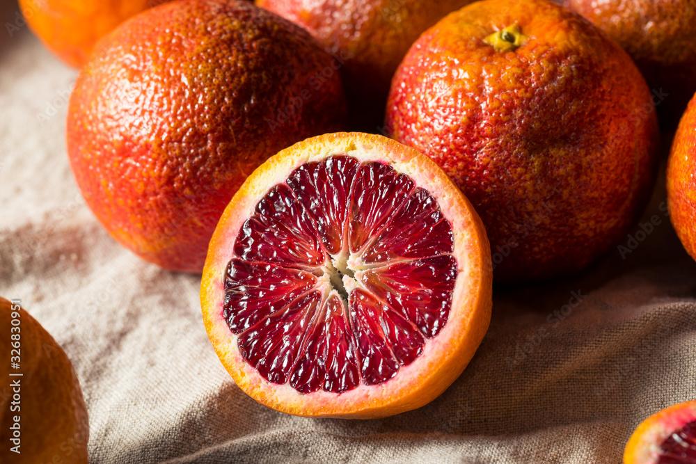 Fototapeta Raw Organic Red Blood Oranges