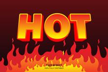 Hot Fire Text Effect, Editable...