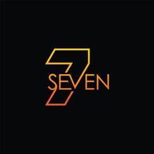Number Seven Logo Design Template