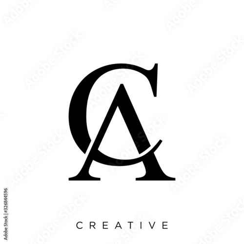 Photo ca ,ac logo vector black icon