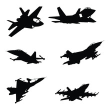 Set Of Military Aircraft Fight...