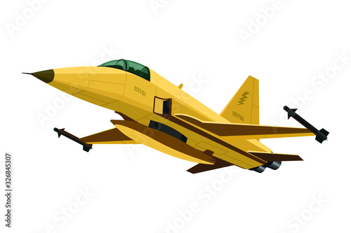 Canvastavla Military aircraft fighter
