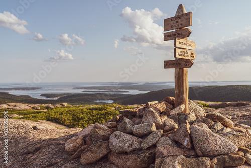 acadia national park view Canvas Print