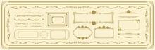 Decorative Gold Frame Set Vector