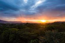 Sunset In Rural Costa Rica