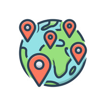 Color Illustration Icon For Anywhere