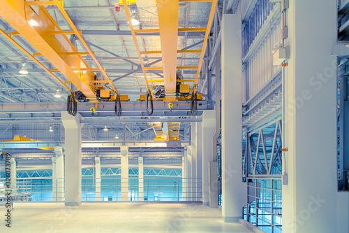 overhead crane factory Canvas Print