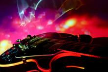 Electric Guitar Closeup In The...