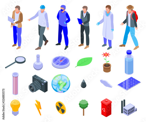 Obraz na plátne Ecologist icons set