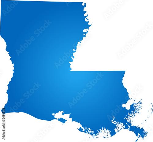 Photo map of Louisiana