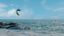 At The Beach There Is Windsurf...