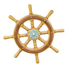 Wooden Metal Old Wheel Steerin...