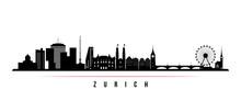 Zurich Skyline Horizontal Bann...
